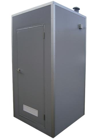 Зимняя туалетная кабина с обогревателем