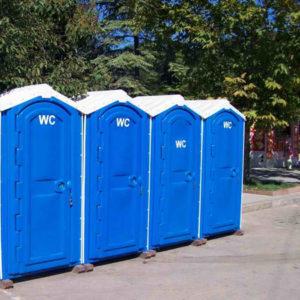 Стоимость обслуживания туалетных кабин на мероприятии