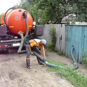 Заказываем услугу откачки канализации
