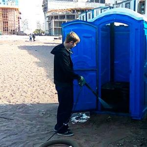Обслуживание туалетных кабин — сколько стоит