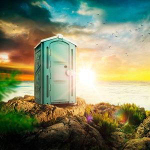 Туалетная кабина с доставкой в аренду